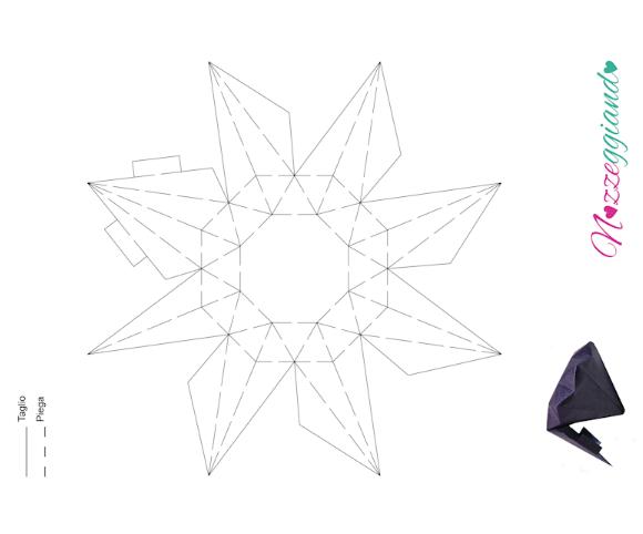 Template sagoma diamante portaconfetti nozzeggiando for Soggiorno a forma di diamante