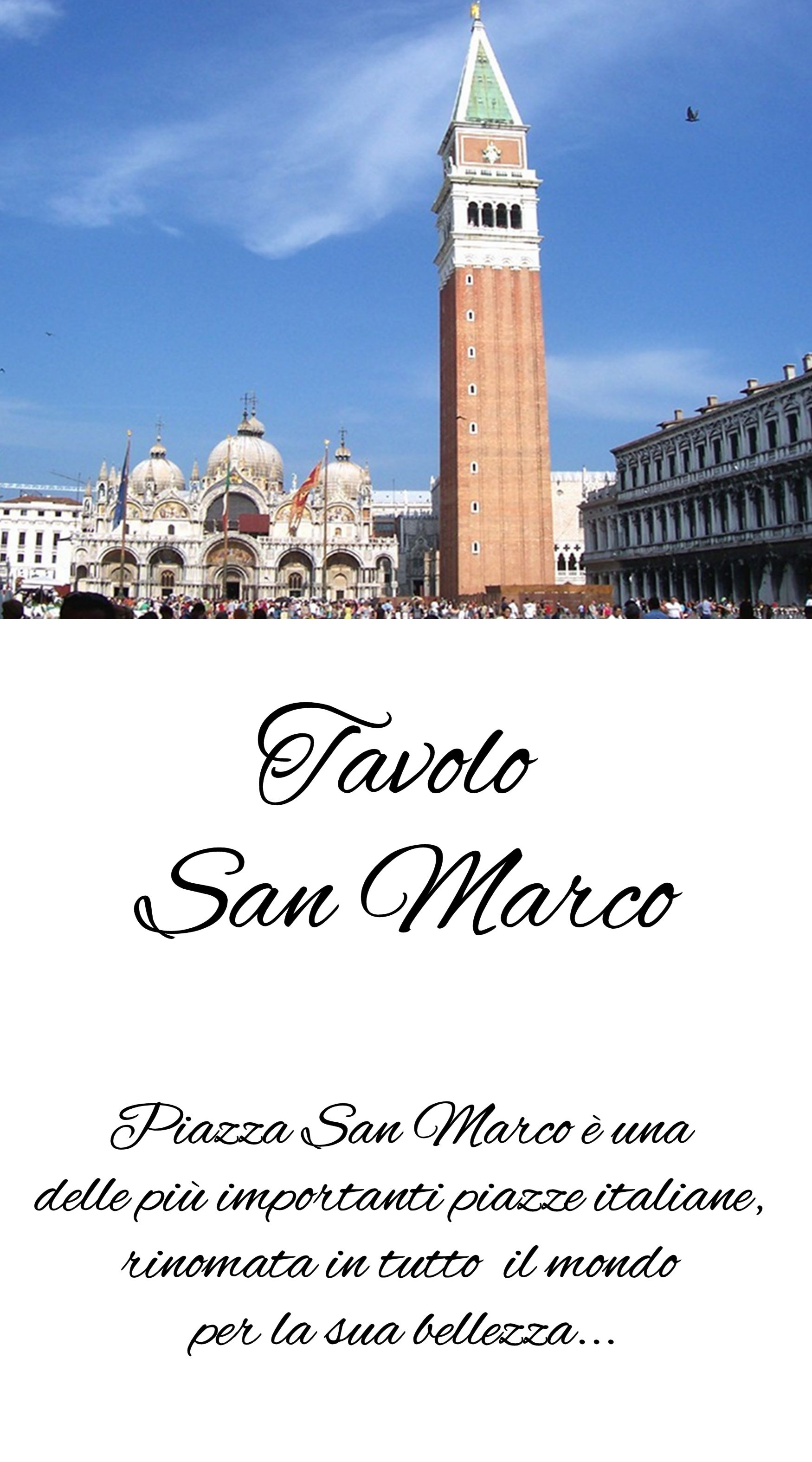 Segnatavolo Venezia