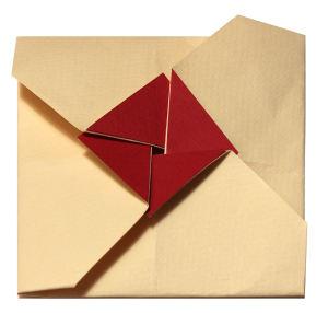Busta origami quadrata Fronte