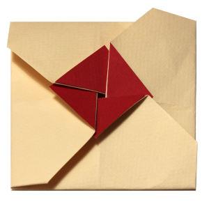 Busta origami quadrata Fronte Anteprima