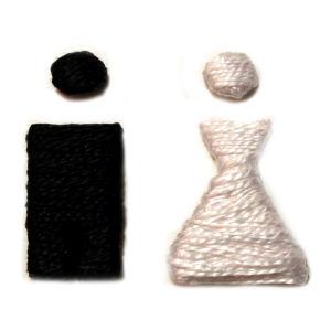 Sposi fili cotone Fronte