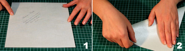 Scheda 1 _  Busta Origami con chiusura quadrato