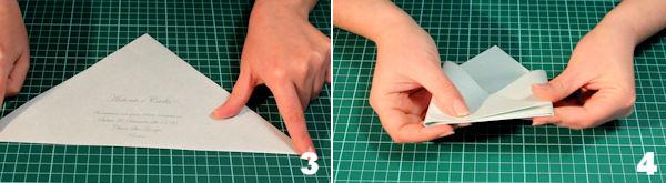 Scheda 2 _  Busta Origami con chiusura quadrato