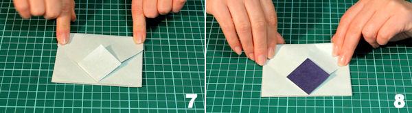 Scheda 4 _  Busta Origami con chiusura quadrato