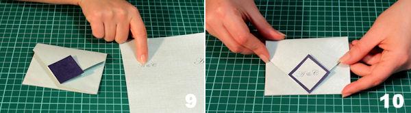 Scheda 5 _  Busta Origami con chiusura quadrato