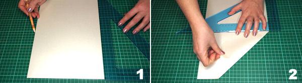 Scheda 1  -  Busta Origami punta Asimmetrica