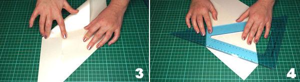 Scheda 2  -  Busta Origami punta Asimmetrica