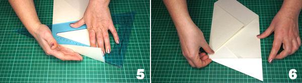 Scheda 3  -  Busta Origami punta Asimmetrica