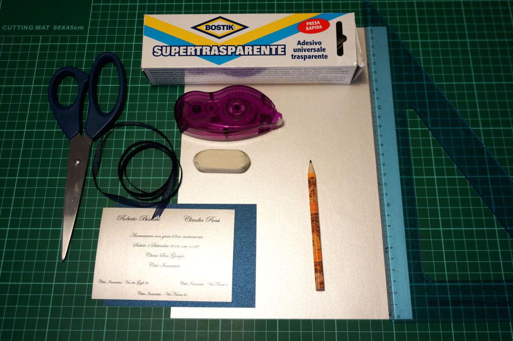 materiali busta origami punta asimmetrica