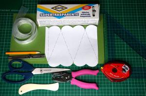 Portaconfetti Cuore allungato Materiali