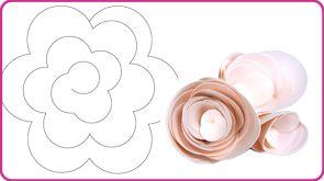 sagome-e-template-rose-di-carta